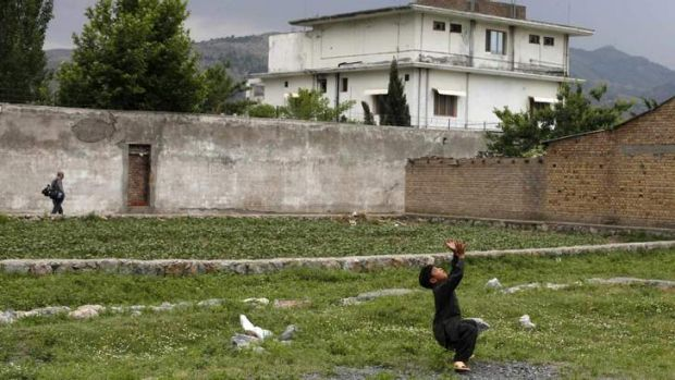Hiding place: Osama bin Laden was killed inside his Abbottabad compound.