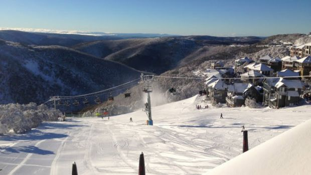 The upside ... Falls Creek has had more than 55 centimetres of natural snow fall sing Thursday night.