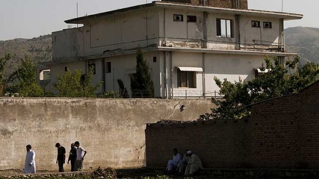 The compound in Abbottabad which was home to bin Laden and his three wives.