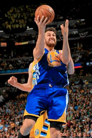 Staying put: Andrew Bogut.