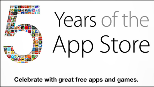 Giveaway: Apple celebrates five years of the App Store.