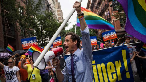 Second try: New York City mayoral candidate Anthony Weiner is a former congressman who quit his post after tweeting ...