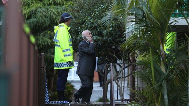 Police at the scene of a fatal shooting in Eastlakes where one man was killed and another injured.