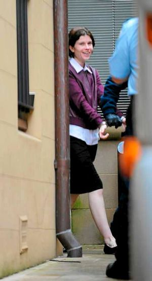 Pleaded guilty to manslaughter: Tanilla's mother Donna Deaves leaves court on Tuesday.
