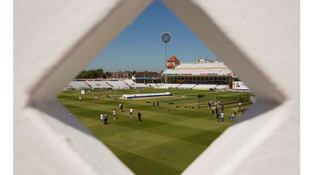 A view of players in the nets at Trent Bridge on the eve of the first Ashes Test.