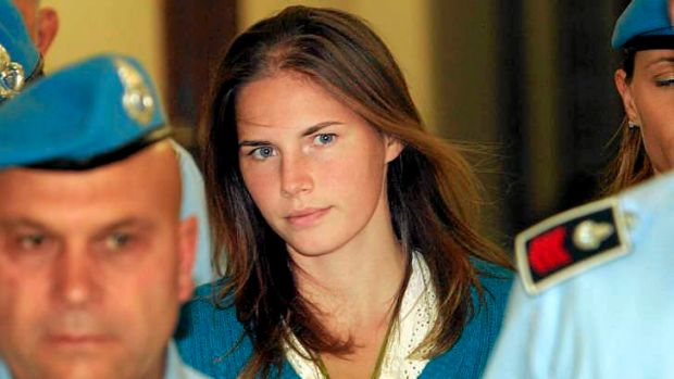 File picture of Amanda Knox taken at an Italian court hearing in September 2008.
