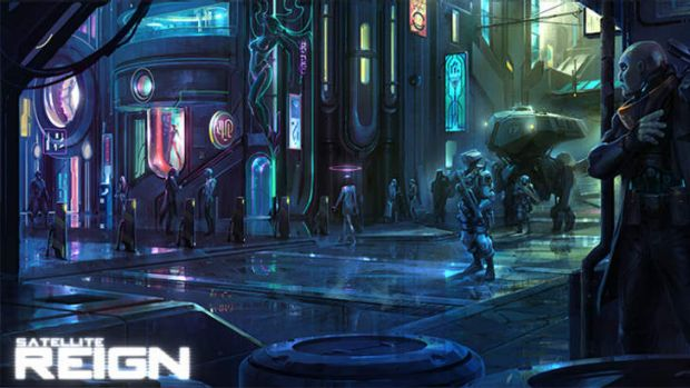 Artwork from Satellite Reign, a Brisbane game likely to be funded by crowd sourcing.