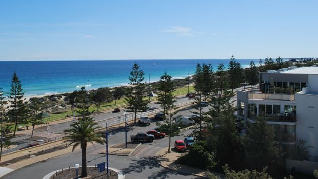 Views from the top of the car park stretch from Hillarys to Fremantle.