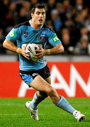 Somebody stop him: Winger James McManus has been given the unenviable task of marking Greg Inglis in the State of Origin ...