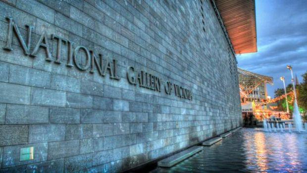The National Gallery of Victoria, St Kilda Road.
