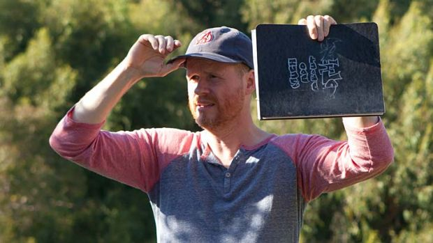 Director Joss Whedon on the set of <i>Much Ado about Nothing.</i>