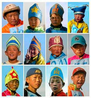 Mongolia's jockeys start young.