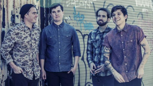 Surfer Blood's John Paul Pitts (second from left) writes 'from personal experience, and from pain'.