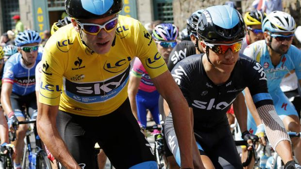 Rock: Australia's Richie Porte has had to shelve his own ambitions to help teammate Chris Froome keep the yellow jersey ...