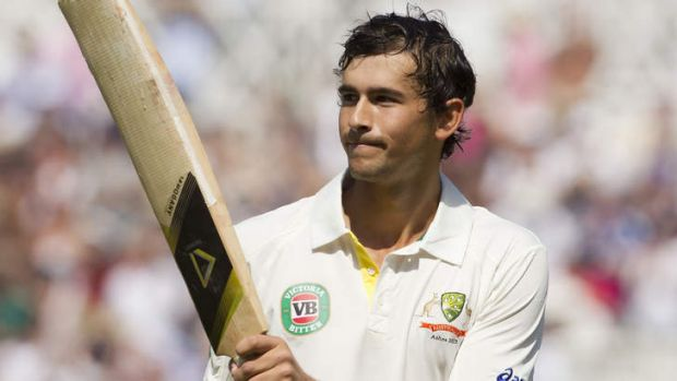 Record innings: Ashton Agar walks off after missing out on a century.