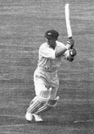 Legend in action: Stan McCabe scored 232 at Trent Bridge in 1938.