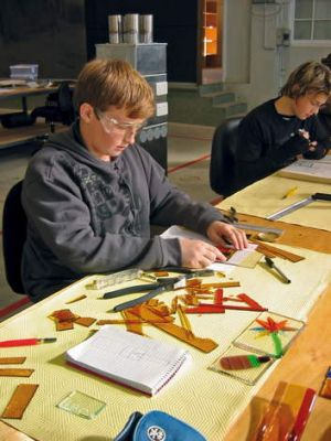 Create your own piece of glass at the Canberra Glassworks.
