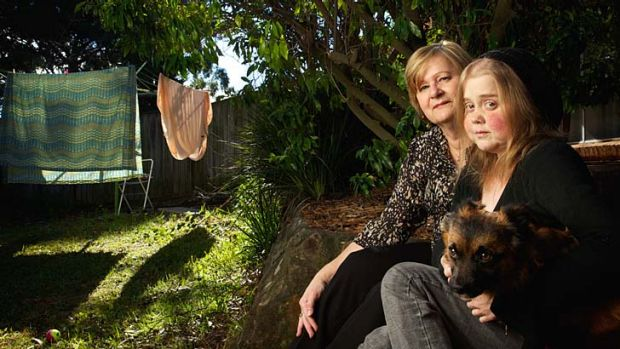 Kylie Polglase with her mother Rosemary and her dog Toby. ''Everybody dies [yet] every time I talk about it, I am ...