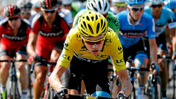 Race leader Chris Froome of Great Britain loses more than a minute to chief rival Alberto Contador.