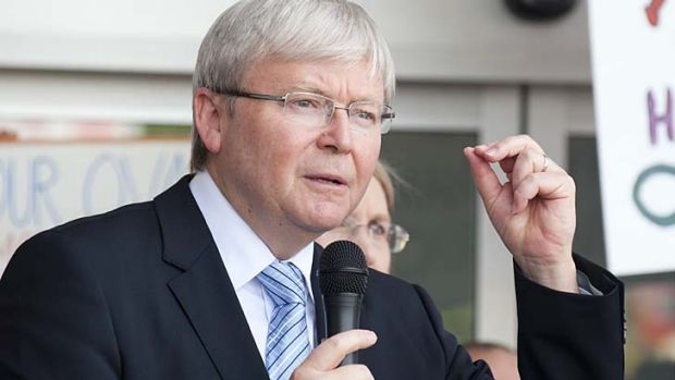 His say-so: Kevin Rudd backs rank-and-file preselection.