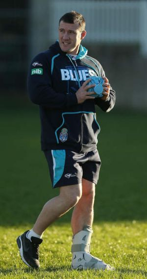 """""""I want to hold that shield up along with Gal"""": Stand-in Blues skipper Robbie Farah."""