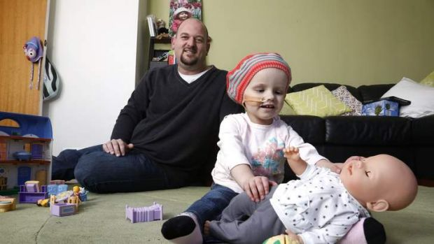 Family friend Peter Oliver has been helping with fundraising for Canberra toddler Annie McGuigan, who has a brain tumour.