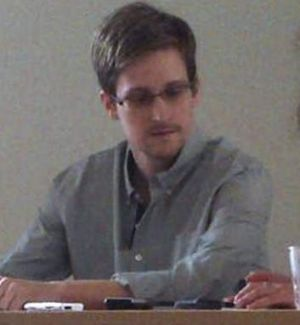Shadow: US intelligence leaker Edward Snowden at Moscow's Sheremetyevo airport on Friday.