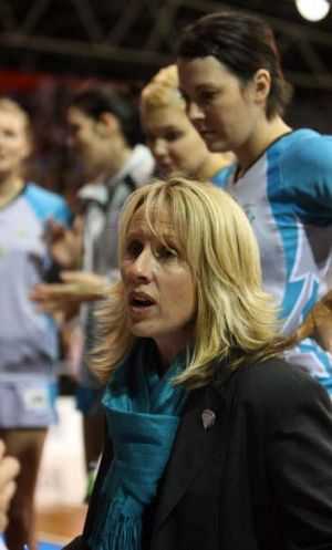 Proud: Coach Jane Woodlands-Thompson of the Thunderbirds.