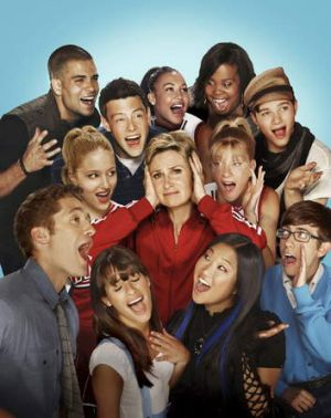 TV hit: the cast of Glee.