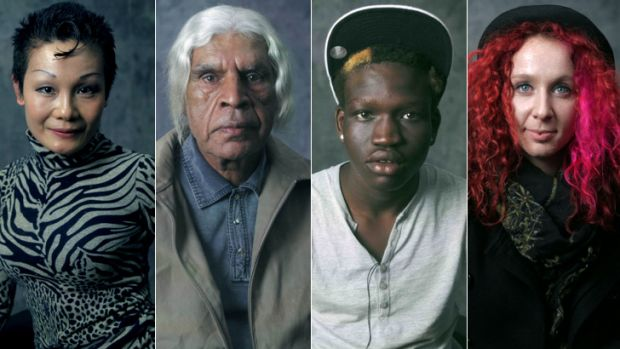 Stories to tell: Portraits from Ben Lawrence's <em>Redfern, I Love You series</em>; (from left) Kitty, Allan, Miguel, ...