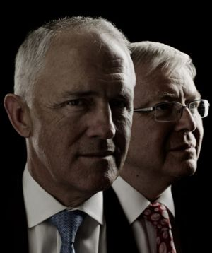 Malcolm Turnbull and Kevin Rudd.