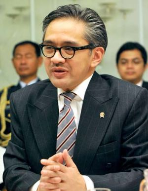 Indonesian Foreign Minister Marty Natalegawa.