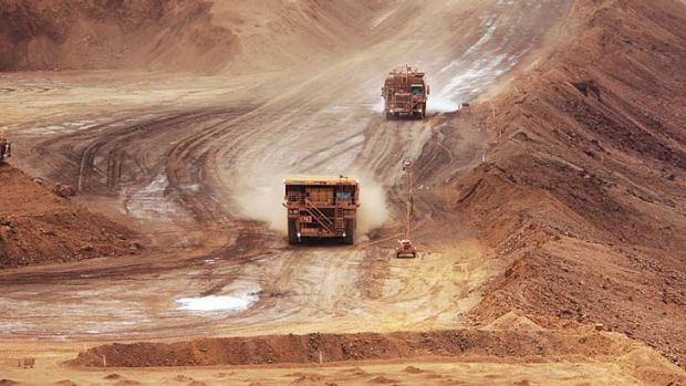 On a roll ... BHP has lifted its 2014 iron ore output guidance.