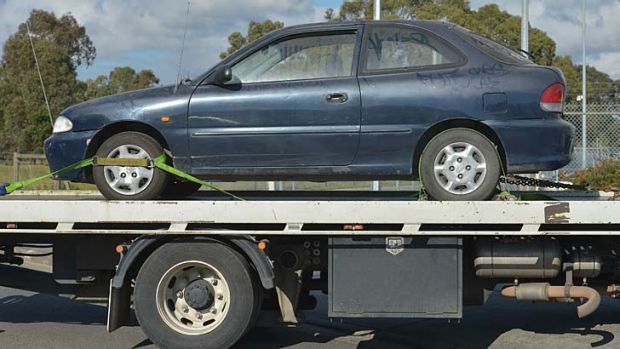 The Hyuandai Excel seized by Purana taskforce detectives, which they believe is linked to Terence Blewitt.