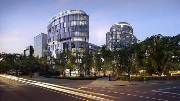 Premium accommodation: An artist's impression of the high-end apartment project on St Kilda Road.