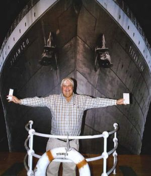 King of the world … Palmer's projects include building the Titanic II, a replica of the original Titanic.