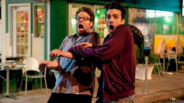 Seth Rogen and in Jay Baruchel in <i>This is the End</i>.