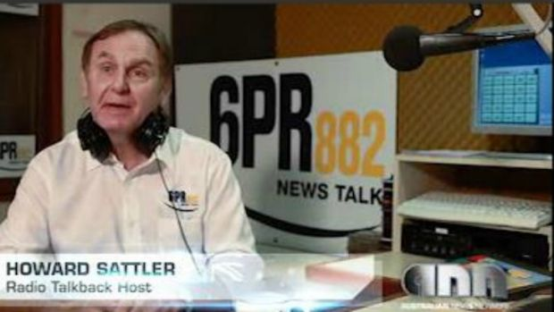 Former radio talkback host Howard Sattler, who was fired from 6PR following his inappropriate interview with former ...