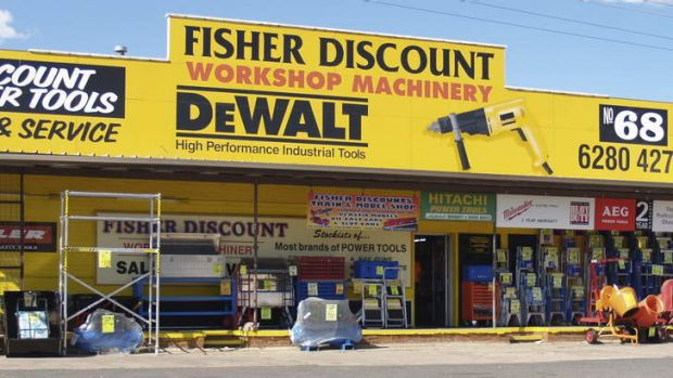 Closing ... Fisher Discount store on Barrier Street in Fyshwick.