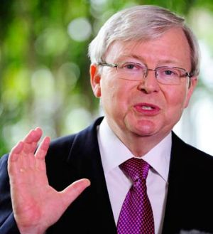 Kevin Rudd says Tony Abbott doesn't have the temperament or experience to handle complex foreign policy issues.