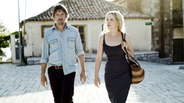 Ethan Hawke and Juliet Delpy reunited in <i>Before Midnight</i>.