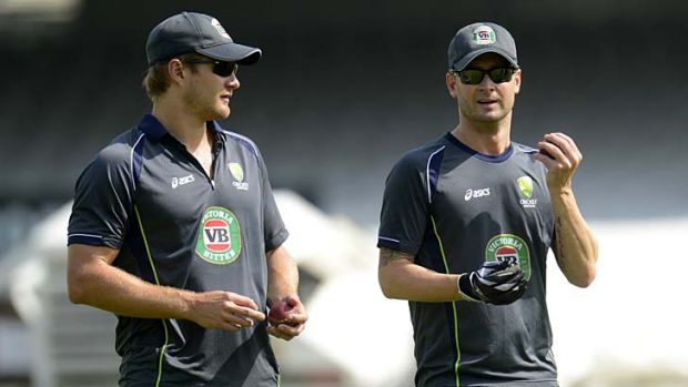 Fractured fairytale: Australian captain Michael Clarke (right) is working hard to patch over differences with his former ...