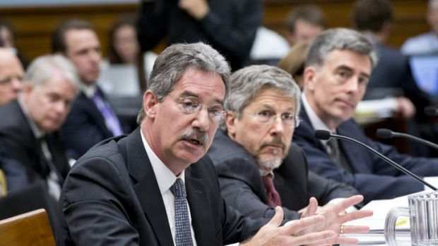From left to right, Deputy Attorney General James Cole, Robert S. Litt, general counsel in the Office of Director of ...