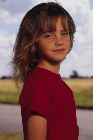 Growth: Emma Watson at age nine.