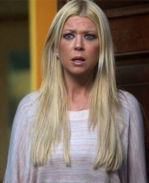 Wasn't she in a <i>Pie</i> movie once? ... Tara Reid in <i>Sharknado</i>.