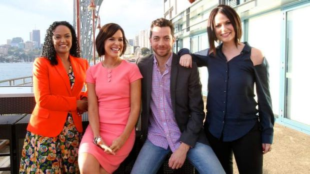 <i>Wake Up</i> hosts, from left, Nuala Hafner, Natarsha Belling, James Mathison and Natasha Exelby.