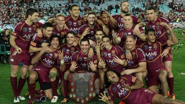 The victorious Maroons