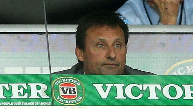 Serial disappointment: Blues coach Laurie Daley watches another loss unfold at ANZ Stadium on Wednesday night.