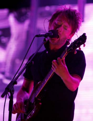 Vocal critic: Radiohead's Thom Yorke.