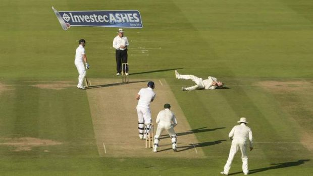 Steve Smith claims a return catch from Jonny Bairstow.